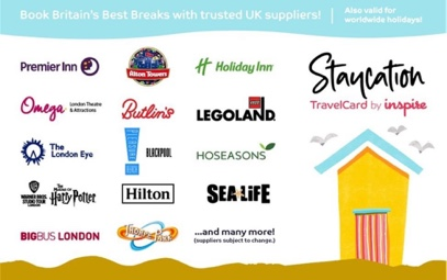 Inspire Staycation Card Gift Card UK